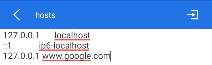 add URLs to block websites on Andrroid