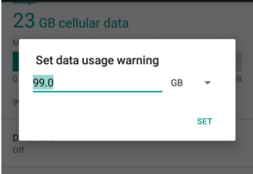 data usage limit - Reduce Data Usage