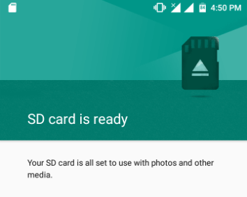 mounted SD card