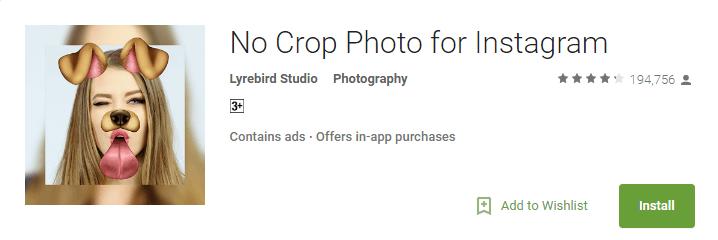 no crop photo forinstagram