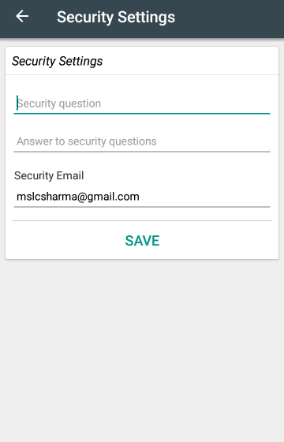 Change Security Email