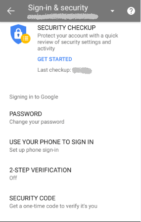 Sign In & Security