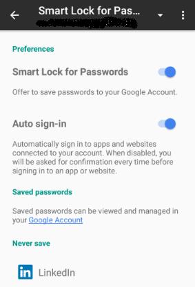 Smart Lock & Passwords