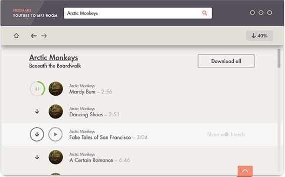 Freemake YouTube to MP3 Boom