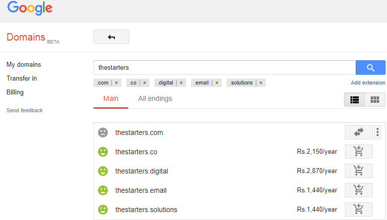 Google Domains Easy to Use Interface
