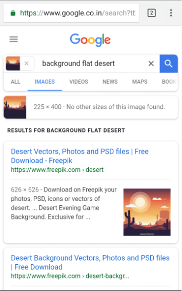 Google Reverse Image Search Result on Mobile Phone