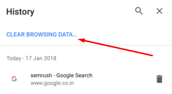 Clear Browser Cache in Google Chrome on Android 2