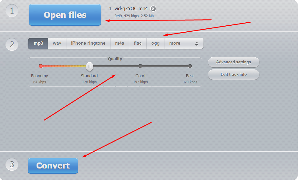 Convert YouTube to MP3 - Extract audio from video