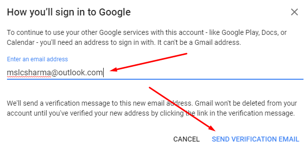 Send Verification Link