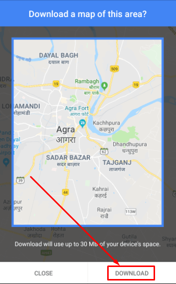 Google Maps - Download Map