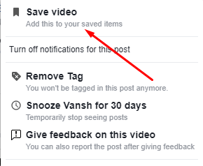 Save Video to Facebook Online