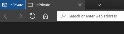 Microsoft Edge New InPrivate