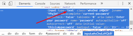 How to Reveal Password Behind Asteristik in Login Pages - Right-Click and Inspect Element