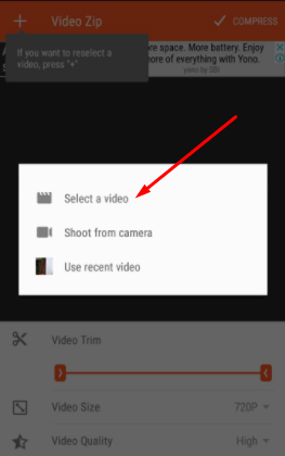 How to Compress Files on Android - Uisng Video Trimmer Guru 1