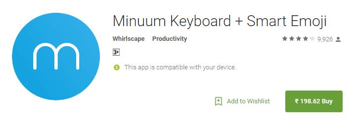 Minuum Keyword + Smart Emoji