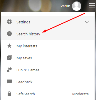 How to Delete Bing History - Open Search History