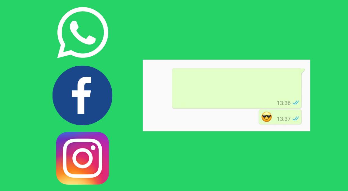 blank text on social media