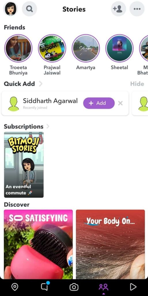 Stories in Snapchat to know if someone has blocked you