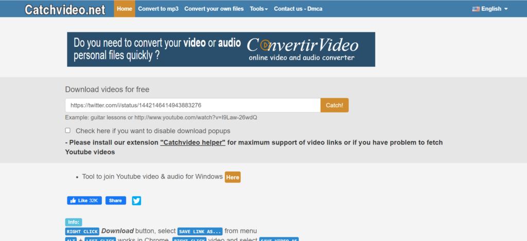 Paste URL of embedded video on catchvideo.net