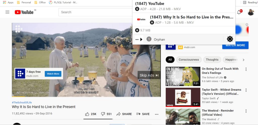 Download embedded video using Video DownloadHelper