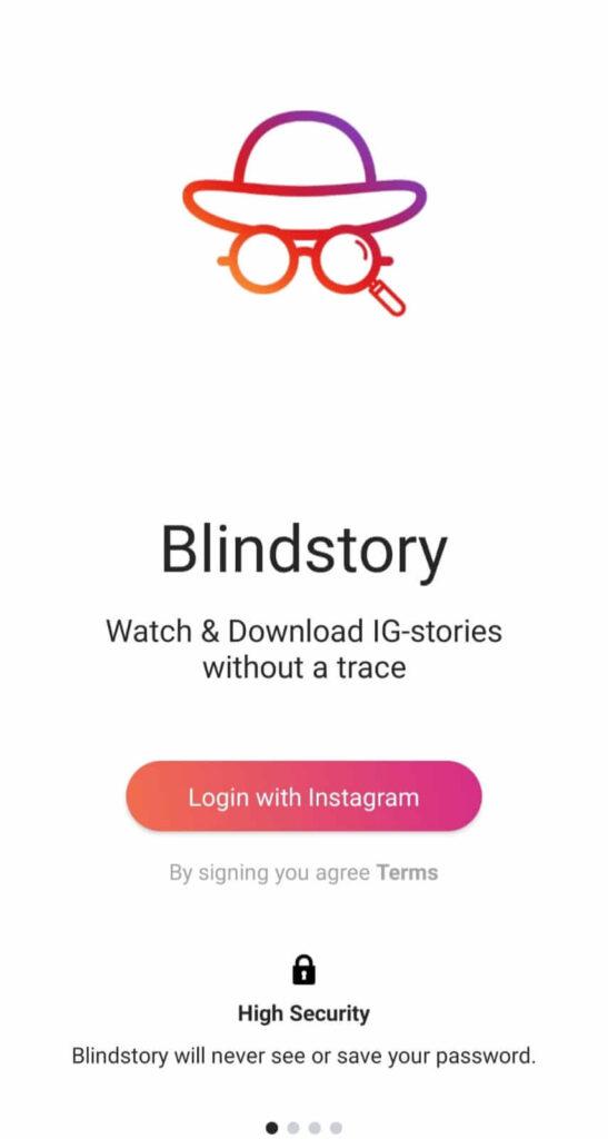 Blindstory app to watch Instagram Story